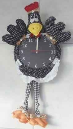 Relógio galinha