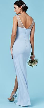 March elegant powder blue gown with sweetheart underlay and mesh illusion neckline is a winner. The beautiful tulip skirt is very flattering. Now in store. Many more gowns to choose from. We cater for all needs. Purchase or hire.Visit us in Albany. Powder Blue Gown, Tulip Skirt, Affordable Wedding Dresses, Illusion Neckline, Formal Gowns, Wedding Designs, Wedding Gowns, Ball Gowns, Evening Dresses