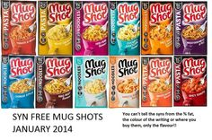 Slimming world syn free mug shots jan 2014 Slimming World Syn Values, Slimming World Tips, Slimming World Snacks, Slimming Eats, Slimming World Recipes, Syn Free Snacks, Syn Free Food, Sliming World, Food And Drink