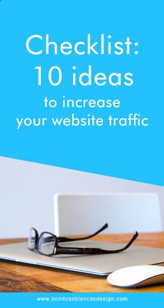 Checklist: 10 ideas to increase your website traffic www.sombrasblanca... #marketing #smallbusiness #entrepreneur