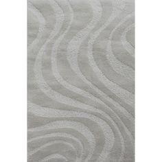 Carpet Art Deco Symetry Beige Rectangular Indoor Shag Area Rug (Common: 5 x 8; Actual: 63-in W x 89-in L x 0.3-ft Dia)