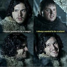 The nights watch-game of thrones -  humor- funny- A wizard or a ranger would be pretty cool!