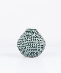BLOOMINGVILLE Ceramic Vase dark green