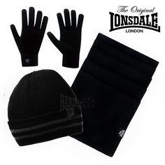 Lonsdale London Winterset Mütze, Schal, Handschuhe Junior verschiedene Modelle