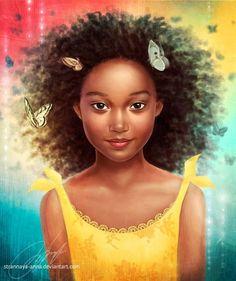 A fan art tribute to the hunger games Natural Hair Art, Pelo Natural, African American Art, African Art, American Children, Hunger Games, Caricatures, Arte Black, Amandla Stenberg