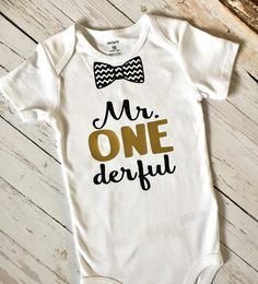 Mr. One derful birthday onederful  tee tshirt T-shirt Cutsom