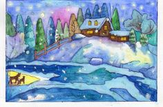 Xmas Cards Handmade, Painting, Art, Handmade Christmas Greeting Cards, Painting Art, Paintings, Kunst, Paint, Draw