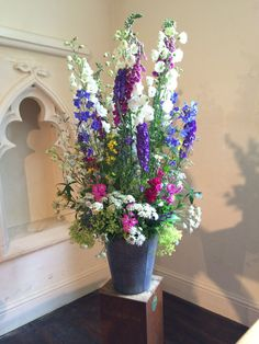 Summer garden flowers create a casual feature display