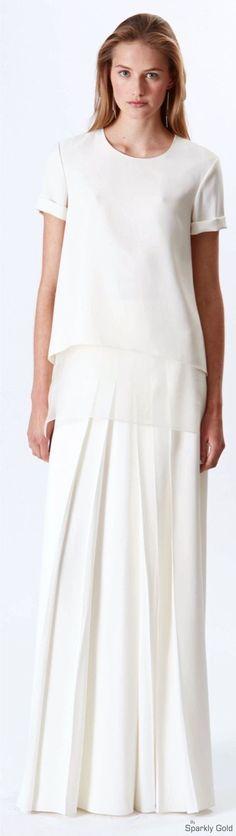 Ralph Lauren Resort white maxi skirt, blouse @roressclothes closet ideas #women fashion outfit #clothing style apparel