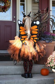 Monarch Butterfly Costume  Includes Plush Wire Free by MerryEve