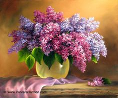 Lilac Bouquet, Oil painting