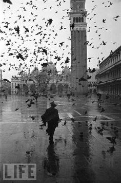Black and White photograph- Vintage Venice, 1952 from Life.com