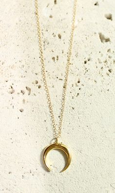*Handmade in LA by Panache Jewelry *Size: chain: 18 in., pendant: 2cm. drop, 1.75cm width *Material: chain: gold filled, pendant: vermeil (sterling silver dipped in 14k gold) *Spring ring closure *Ple