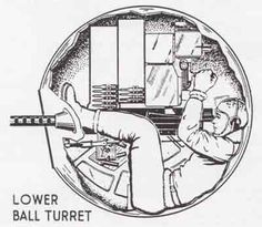 Belly-gunner, a B-17 {aka Ball Turret gunner} }