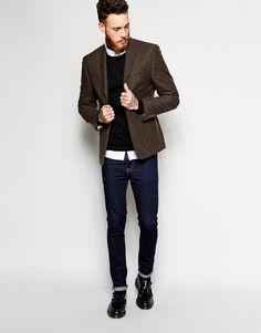 Image 4 ofASOS Slim Blazer With Shawl Collar