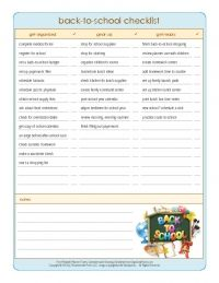 Print the Ultimate Back-to-School Checklist