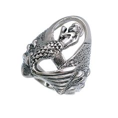 Sea Angel Sterling Silver Women Ring by jewelkingthai on Etsy, $26.00