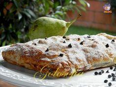 Strudel di pere cioccolato e noci, un dolce di pasta sfoglia buonissimo e veloce da preparare!