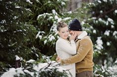 Зимняя фотосессия на природе (Римма и Сергей)