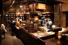 Modern Restaurant, Japanese Restaurant Design, Cooking Restaurant, Chinese Restaurant, Cafe Restaurant, Restaurant Interior Design, Ramen House, Japanese Bar, Kimpton Hotels