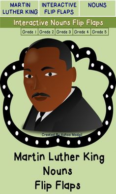 Your class will love Martin Luther King Jr. Foldable Activity: Celebrate Martin Luther King Jr. life with this interactive and crafty resource.These Nouns Foldables will allow your students to learn Facts about Martin Luther King's life while creating Nouns Flip Flaps