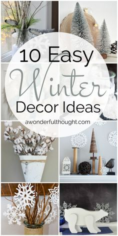 68 Best Winter Decor Diy Images On Pinterest Christmas