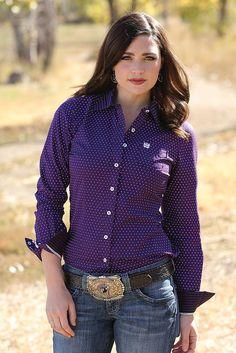 f060e670 Teskey's Saddle Shop: Ladies Cinch Long Sleeve Button Down   @giftryapp  Women's Purple Shirt