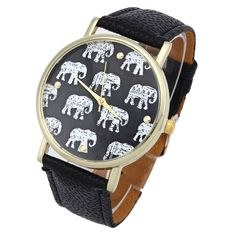 New Luxury Fashion women Elephant Pattern Faux Leather Band Analog Quartz Dial Watches Novel design Relogios Dropshipping Trendy Jewelry, Women Jewelry, Trendy Watches, Ladies Watches, Women's Watches, Elephant Pattern, Tribal Elephant, Artificial Leather, Leather Watch Bands