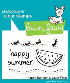 Lawn Fawn - happy summer stamp