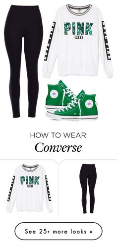 """Pink and converse"" by melw44 on Polyvore featuring Victoria's Secret and Converse"