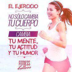 ¡Cambia la mente, la actitud y el humor! Movies, Movie Posters, Female Fitness, Feminine, Attitude, Exercises, Films, Film Poster, Cinema