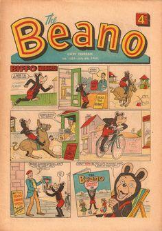 The Beano Cover - 1968 - via Wacky Comics!