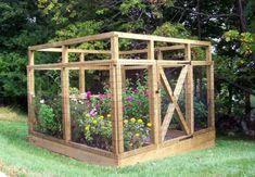 Small, enclosed vegetable garden
