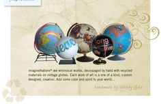 Decorated globes.  If you have any that you want to get rid of, let me know so I can do this project!