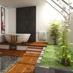 Outdoor Bathroom plus Indoor Garden