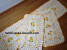 jogo de cozinha tapete croche - Pesquisa Google