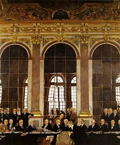 June 28, 1919: The Treaty of Versailles is signed, officially ending World War I.
