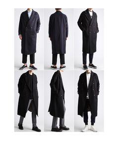 오버사이즈 더블 롱 트렌치코트-coat47 - [존클락]30대 남자옷쇼핑몰, 깔끔한 캐쥬얼 데일리룩, 추천코디 Urban Fashion, Mens Fashion, Fashion Outfits, Basic Outfits, Cool Outfits, Poses, Gay Outfit, Armor Clothing, Looking Dapper