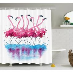 Flamingos Watercolor Painting Prints by Kamenuka Pinned by Freelance Travellers Watercolor Animals, Watercolor Cards, Watercolour Painting, Painting & Drawing, Watercolors, Splash Watercolor, Easy Watercolor, Flamingo Painting, Flamingo Art