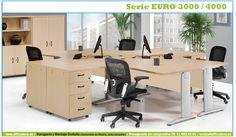 Mobiliario de oficina operativo serie Euro 3000 y 4000