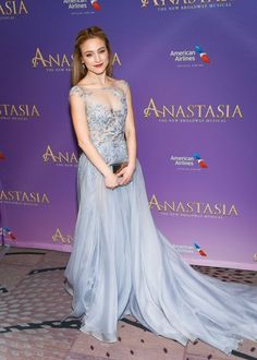 See Christy Altomare, Derek Klena & the Cast of Broadway's Anastasia Journey to the Red Carpet on Opening Night New Broadway Musicals, Broadway News, Christy Altomare, Anastasia Broadway, Opening Night, Red Carpet Dresses, Girly Outfits, Night Outfits, Dream Dress