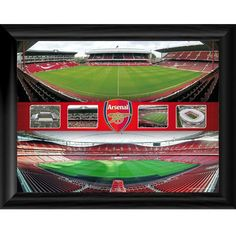 Arsenal F. Framed Print Emirates & Highbury Montage 16 x 12 Card Factory, Football Memorabilia, Uk Football, English Premier League, Arsenal Fc, Prints For Sale, Photographic Prints, Framed Prints, Sports