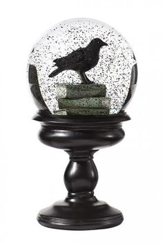 An eerie snow globe for Halloween. Add to your console table in the entryway for a spooky welcome. HomeDecorators.com
