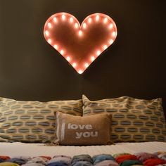 """Rustic 24"""" Heart Sign Marquee Light from The Rusty Marquee"""