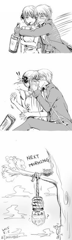 The fact that Sougo really can't hold his liquor makes this even better.