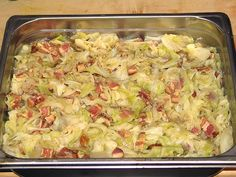 SMOTHERED CABBAGE this sounds tasty considering it's cabbage.