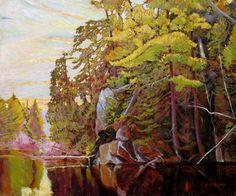 Garth Armstrong - At Mink Lake Portage Algonquin Park 30 x 36