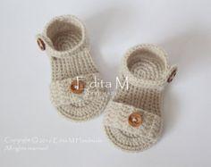 Crochet bebé sandalias sandalias de Gladiador de bebé