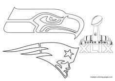 More Super Bowl XLIX coloring pages on: maatjes-coloring-pages.com