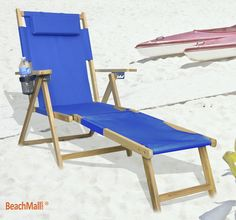 Wood Beach Chaise / Lounger